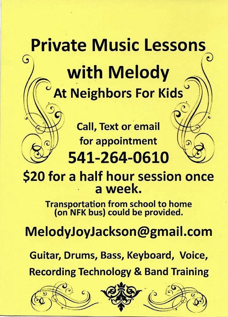 Music lessons with Melody