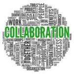 collaboration word collage