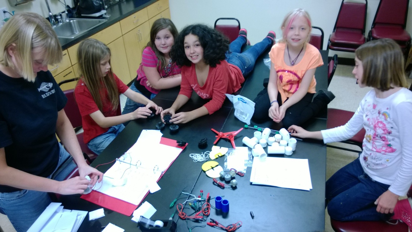 Middle schoolers get a lesson in wind power.