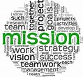 Mission Statement word collage image