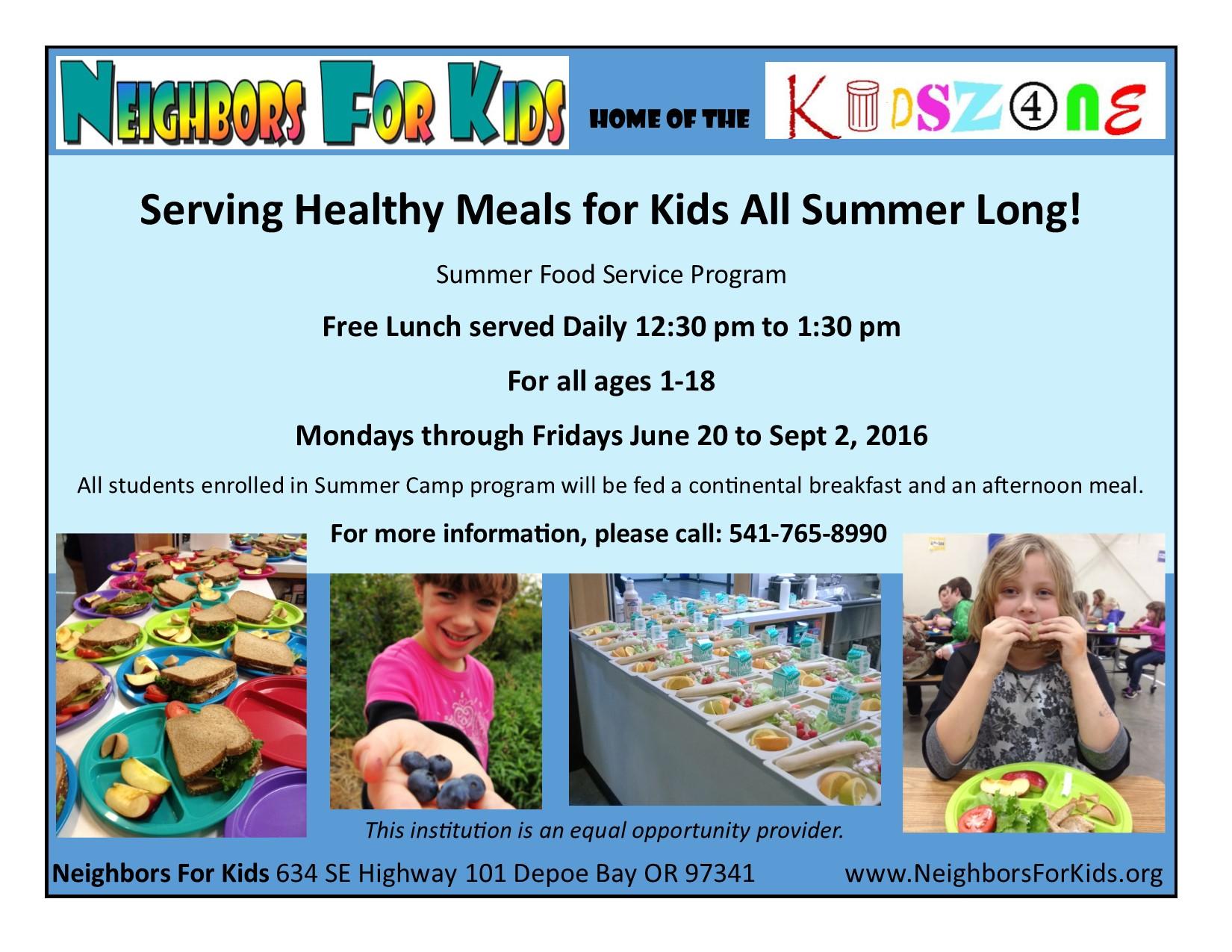 summer food program 2016